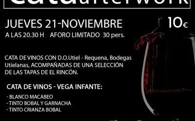 Cata de vinos de Utiel Requena en El Rincón de Montava en Dénia