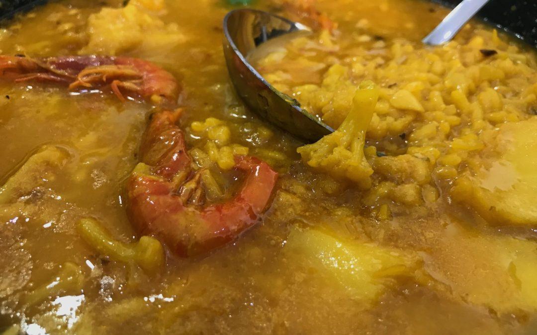 MES DE LA CUCHARA en Havannah Arroz Meloso de Bacalao, coliflor y gamba roja